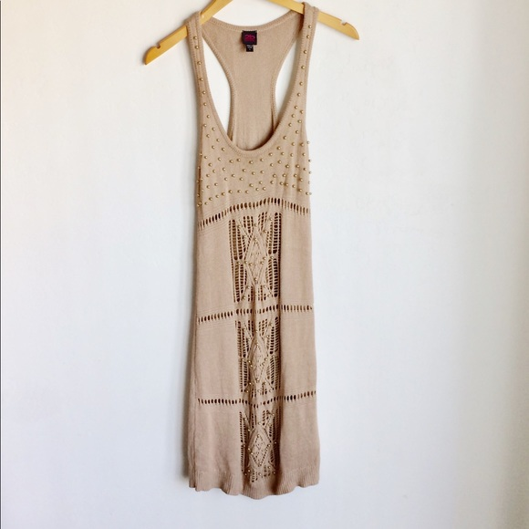 2bBebe Dresses & Skirts - 2bBebe Knit Dress Size L Gold Metal Accents A